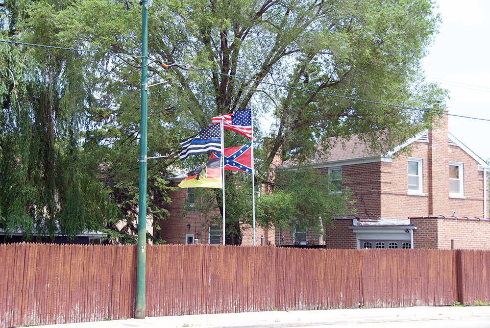 Racist flags in Chicago